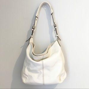 Tignanello Hobo Shoulder Bag White